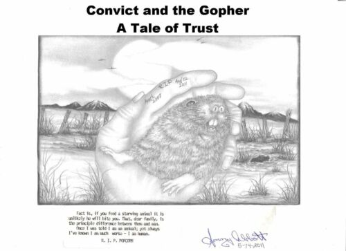 "Short Novel Inmate Christmas Story Book:""Convict & the Gopher- Tale of Trust"""