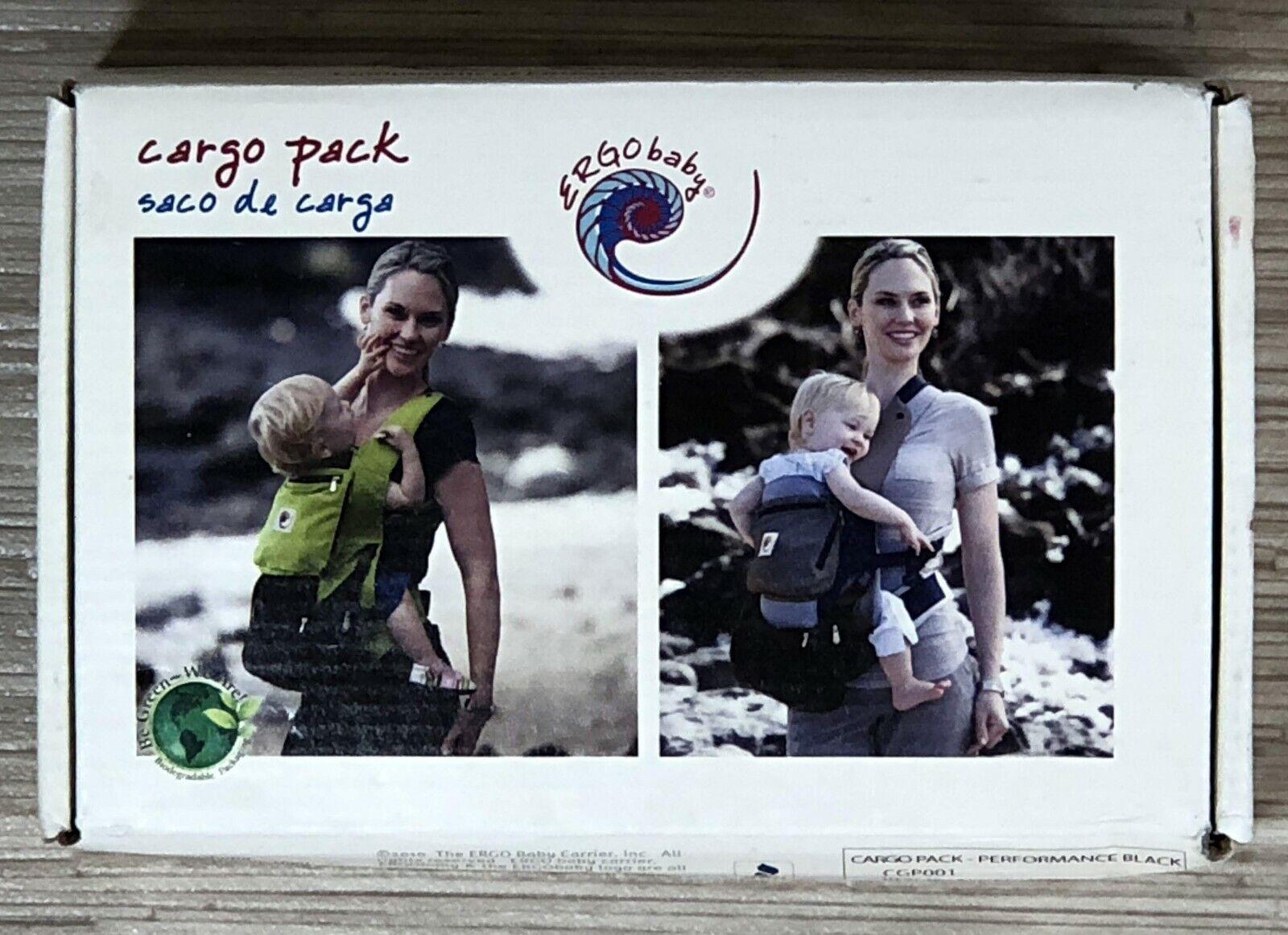 Ergobaby Cargo Pack Black Cotton Blend Zippered Pocket Attac