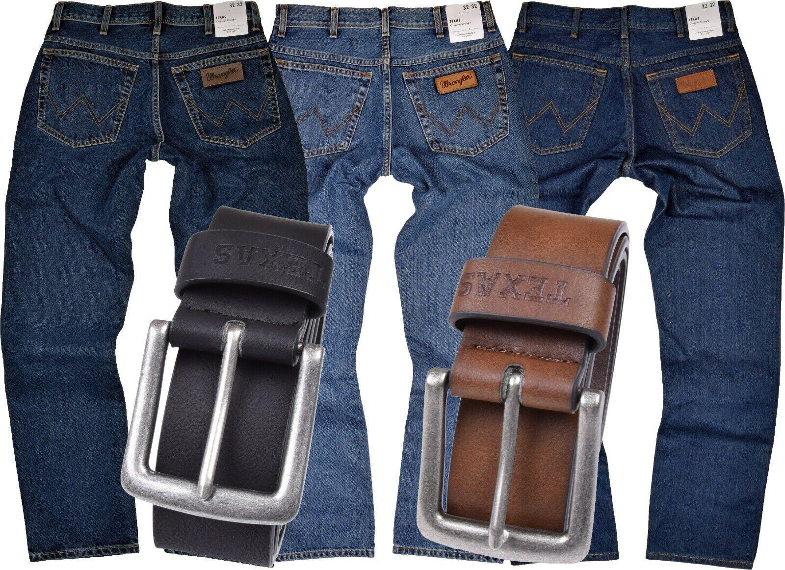 WRANGLER TEXAS Jeans Herren Herrenjeans Jeanshose INKL GÜRTEL 100% Baumwolle