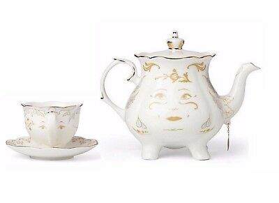 Lenox Disney Mrs Potts & Chip Figurines Beauty and The Beast Teapot Teacup NEW](Chip Teacup Beauty And The Beast)