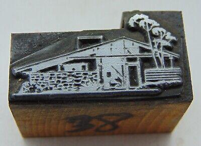Vintage Printing Letterpress Printers Block Mid Century Modern Looking House
