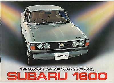 1977 Subaru 1600 (Leone) brochure: Subaru GFT, DL, GL & 4WD models