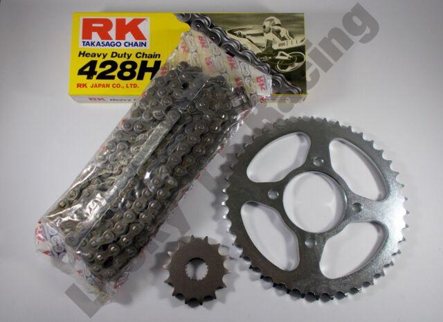 RK Chain and JT sprocket kit for Suzuki EN125 - 2A 03-17 heavy duty standard T