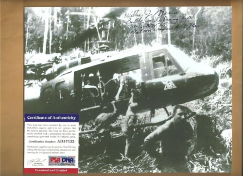 PSA/DNA  Walter Marm Medal Of Honor Ia Drang Vietnam Autographed 8x10 Picture