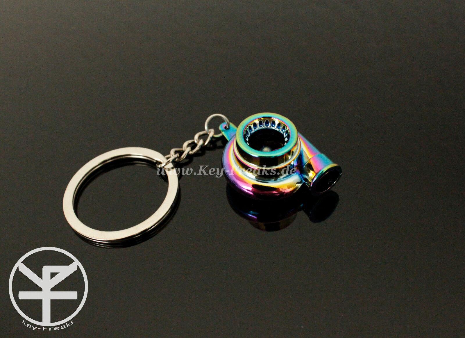 Turbo Schlüsselanhänger Farbe Silber Chrom G-Lader Racing Tuning Nippon Opel