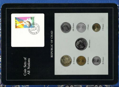 Coin sets of all Nations Chad 1976-1985 UNC 500 Francs 1985 100 Francs  CAR 1983