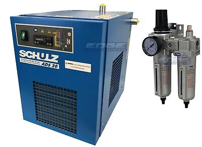 Schulz 20 Cfm Refrigerated Compressed Air Compressor Dryer 115v Complete Kit