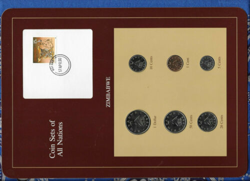Coin Sets of All Nations Zimbabwe 1980-1988 UNC 20 cents 1983