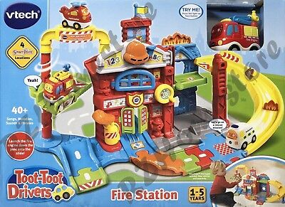 Vtech Toot-Toot Drivers Fire Station Educational Children's Toy Inc. Fire Engine