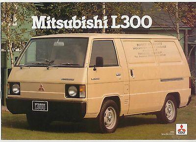 Mitsubishi Colt L300 Van 1980-81 Original UK Market Sales Brochure