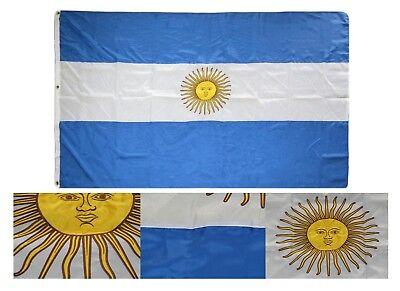 5x8 Embroidered Sewn Argentina Duramax Nylon Flag 5'x8' Grommets