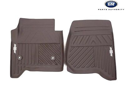 2014-2018 Chevrolet Silverado Cocoa Front All-Weather Mats 84039115 Genuine OEM