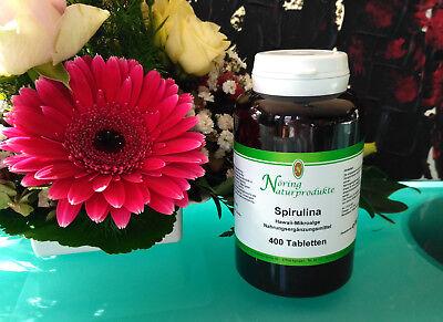 400 Mg Nahrungsergänzungsmittel Tabletten (Spirulina Mikro Alge Hawaii  400 Tabletten á 400 mg Nöring Naturprodukte LaVita)