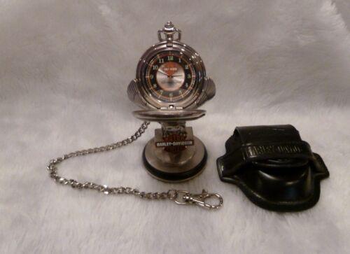 "Franklin Mint, Harley - Davidson ""Heritage Softail"" Pocket Watch w/Stand & Case"