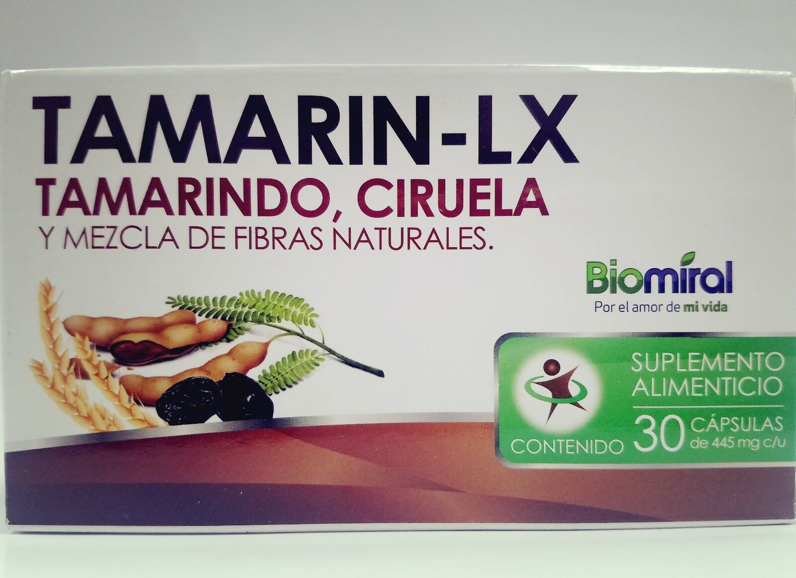 TAMARIN LX ciruela 30 CAPSULES for LAXATIVE RELIEVES CONSTIPATION extreñimiento