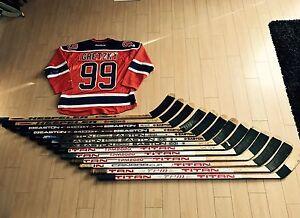 Looking to buy game used wayne gretzky hockey sticks