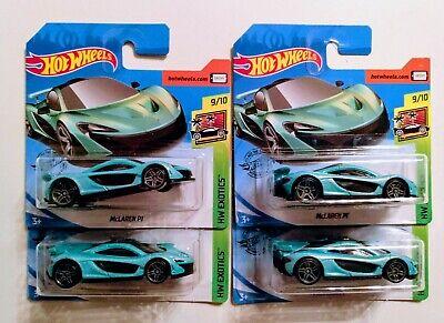 McLaren P1 #149 2020 Hot Wheels J Case Magic Green Lot of 4 HTF Short Cards