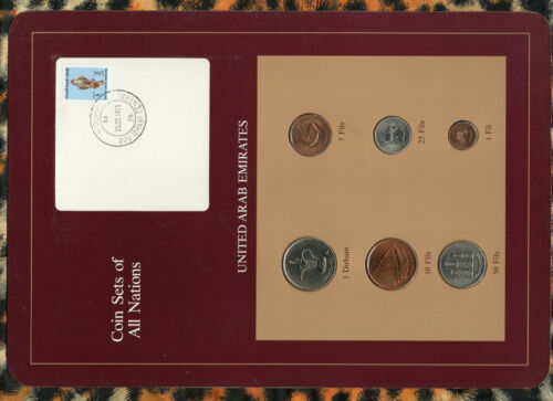 Coin Sets of All Nations United Arab Emirate UNC 1973-1989 1 Fil 1988 FALCON