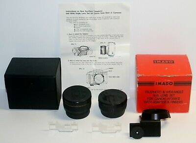IMADO Auxiliary Telephoto & Wide Angle Lens Set for Canon AF35M II / 2 Sure Shot