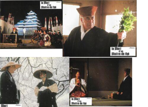 Toshiro MIFUNE Kei KUMAI 4 French Lobby Cards Sen no Rikyu: Honkakubô ibun