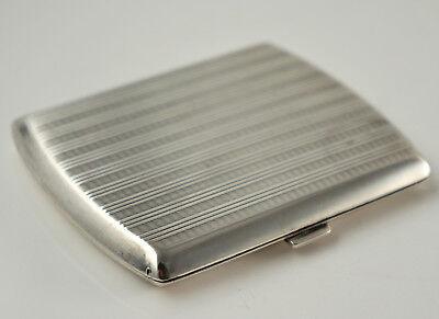 Schönes Zigaretten-Etui, 800er Silber, Sprungdeckel 9x7x1 cm  (Z14)