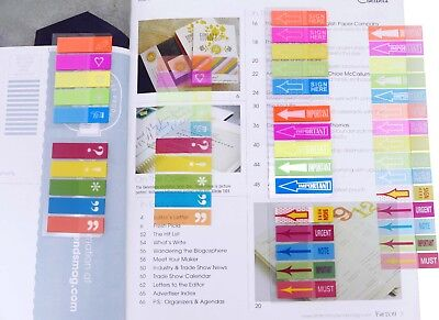 4a Super Sticky Note Flag Set Neon Color Memo Flag Index Label Total 500 Flags