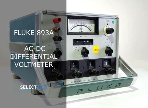 FLUKE 893A AC-DC DIFFERENTIAL VOLTMETER  **LOOK** (REF.: G)