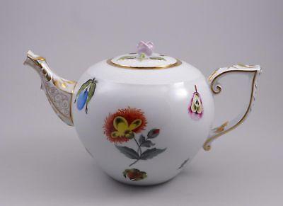 Herend  Teekanne Kanne 601 FRN Market Garden 1. Wahl Früchte Blumen  Garden Teekanne