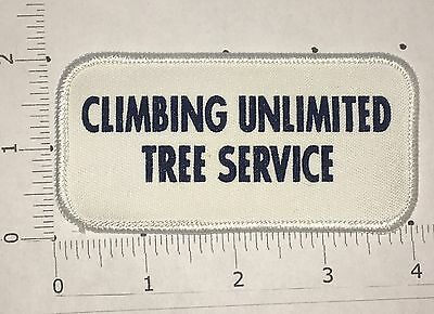Climbing Unlimited Tree Service Patch   Vintage