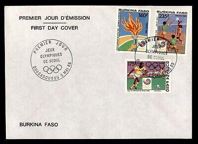 DR WHO 1988 BURKINA FASO FDC OLYMPICS C243260