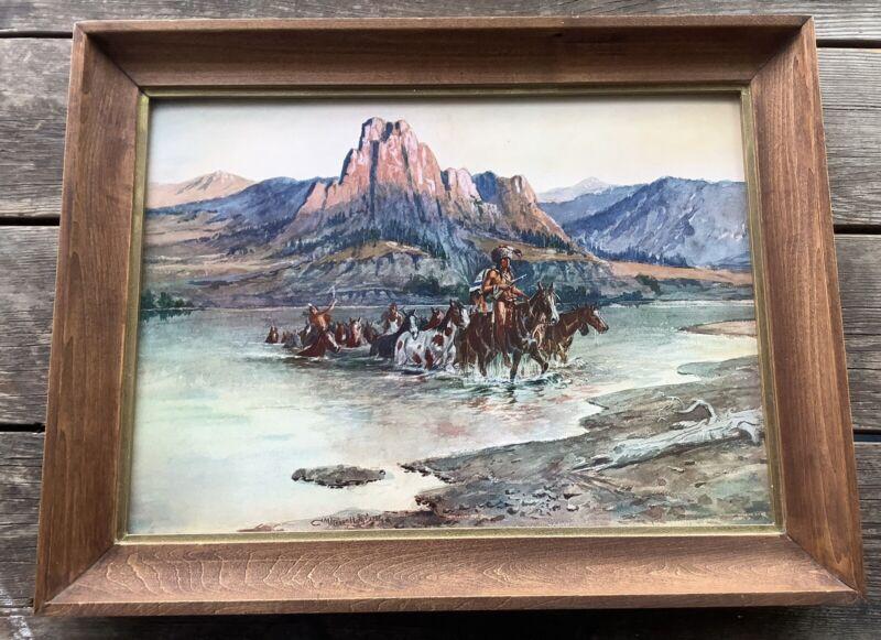 "Charles M Russell ""RENEGADES RETURN"" Framed Art Print TDM CO USA"