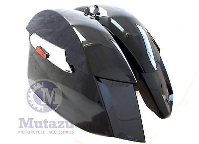 Mutazu Black Hard Saddlebags for 2010-2017 Victory Cross Country Cross Roads