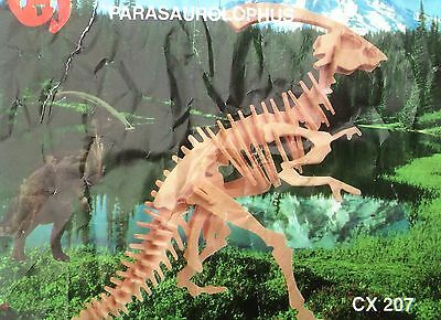 Holzbausatz Dinosaurier 3D Puzzle Modellbau Dino Holz Puzzle Parasaurolophus neu