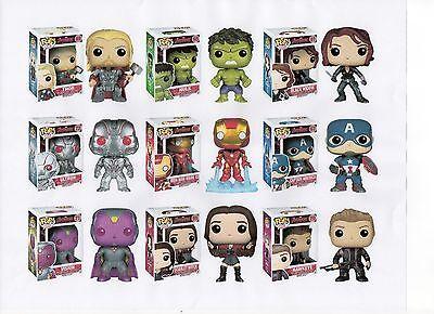 Funko Marvel Avengers 2 Two 3 75  Figure 9Pc Set Thor Hulk Ultron Vision   Gang