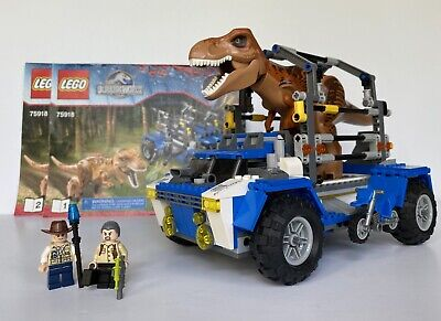 LEGO Jurassic World T-Rex Tracker 75918 Dinosaur, Minifigures & Instructions