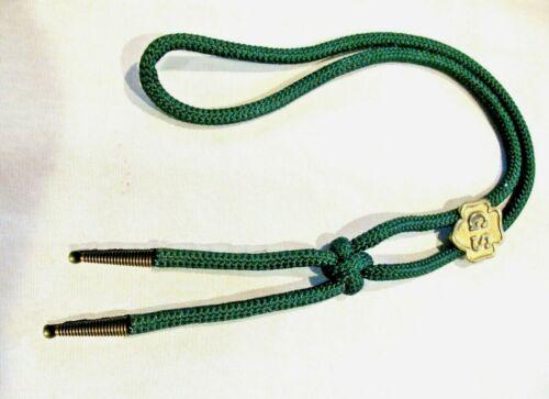 Bolo Tie Girl Scout LOGO SLIDE + Friendship Knot,1940-60s EUC Green Combine Ship