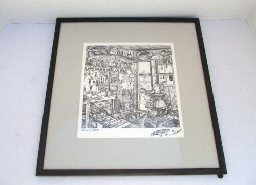 Framed Scott Kimball Early Fishing Plugs USA Cover Art Signed #