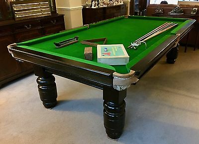VINTAGE 8x4 OAK SNOOKER BILLIARD DINING TABLE & CHAIRS Includes delivery/setup