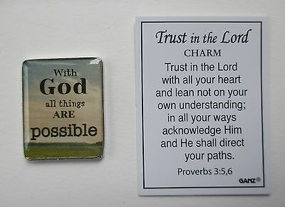 B With God all things are possible TRUST in the LORD Pocket token Charm Ganz](In God All Things Are Possible)