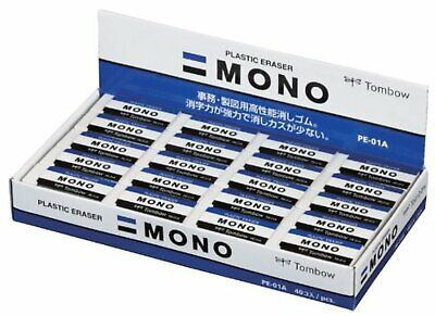Tombow Mono Plastic Eraser Pe-01a-40p 40 Peaces Wtracking New From Japan