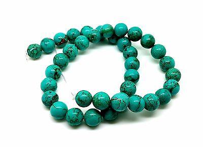 12mm turquoise stone 71gram  Natural beautiful round beads strands for sale - Turquoise Beads For Sale