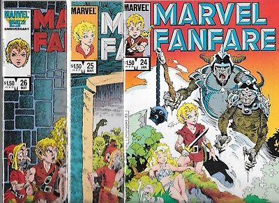 MARVEL FANFARE LOT OF 3 - #24 #25 #26 ELFQUEST-LIKE STORY LINE (NM-) COPPER AGE
