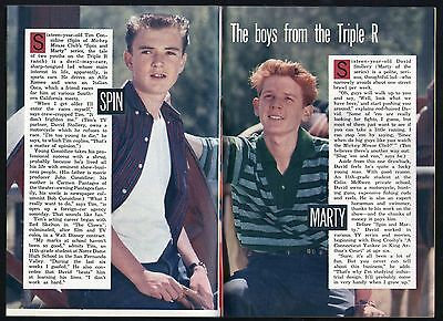 1957 TV ARTICLE~~WALT DISNEY SPIN & MARTY~MICKEY MOUSE CLUB~TRIPLE R RANCH