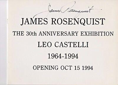 - James Rosenquist Pop Artist Autographed Hand Signed Castelli Exhibit Booklet