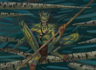 MTG MAGIC THE GATHERING ORIGINAL ART ALAN POLLACK FIERCE EMPATH COA