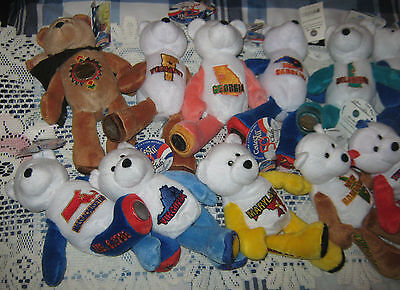 LOT OF 18--LIMITED TREASURES COIN BEARS-50 STATES OF AMERICA COLL. BEARS-2001-02