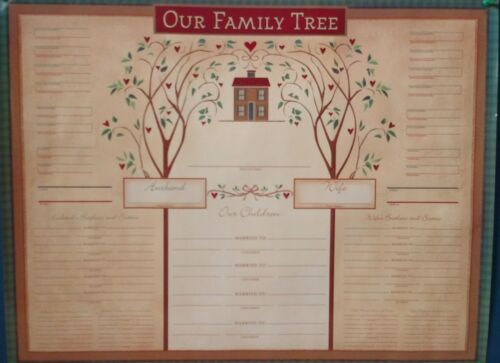 """ Our Family Tree "" Family Tree Charts Genealogy, 17"" x 22"", 4 Pack ~  NIP"