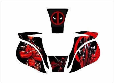 Miller Digital Elite 257213 Welding Helmet Decal Titanium 9400 1600 Deadpool