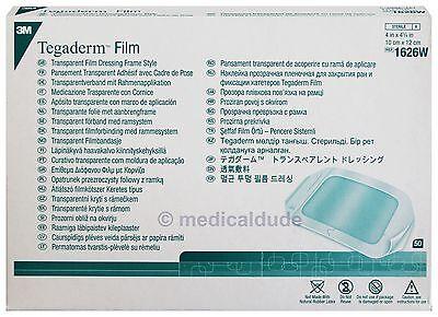 3M Tegaderm Transparent Film Dressing Frame 1626W - 1 Box of 50