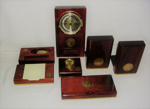 RARE Custom Made 7 Piece Executive Office Desk Accessories Set Oxford Collection